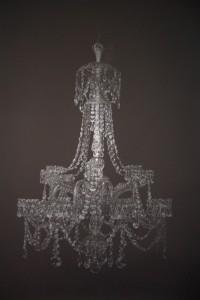 Aleksandar Duravcevic, Chandelier, 2008; Silberstift auf Papier, 213,4 x 147,3 cm; Photo: Galerie Stefan Röpke © Galerie Stefan Röpke, Köln