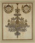 J.G. Puschner, Bergkristallkronleuchter, 1720; Kupferstich, koloriert; © Privatbesitz, Berlin