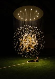 """Jitka Kamencová Skuhravá - Lasvit - glass object """"Bubbles in Space"""", 2008 - 01 dia 4m"""