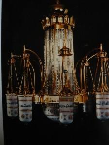 Luster für die Grabesmoschee des Propheten in Medina, Lobmeyr 1987 (Foto Lobmeyr)
