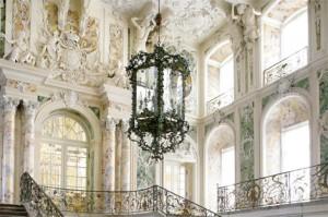 Die Laterne im Prunktreppenhaus von Schloss Augustusburg, Brühl