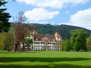 Schloss Eggenberg in the sun Photo: Olivier Perrin