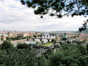 View over the Vltava from Letenske Park